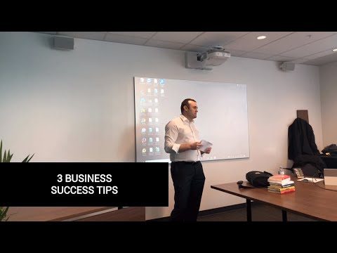 3 Business Success Tips