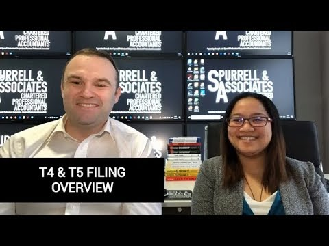 T4 & T5 Filing Overview